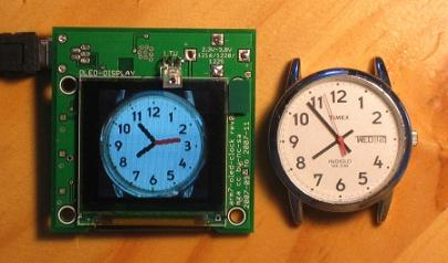 Arm7 Based Oled Analog Clock Face Embedded Projects From
