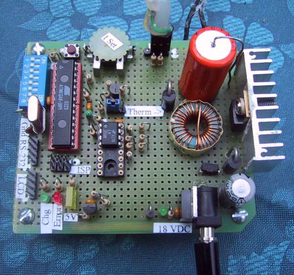 The Universal Lithium Ion Battery Charger Embedded